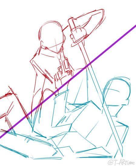 그림체 옮기기 커플 인장 On Drawing Reference Poses Art