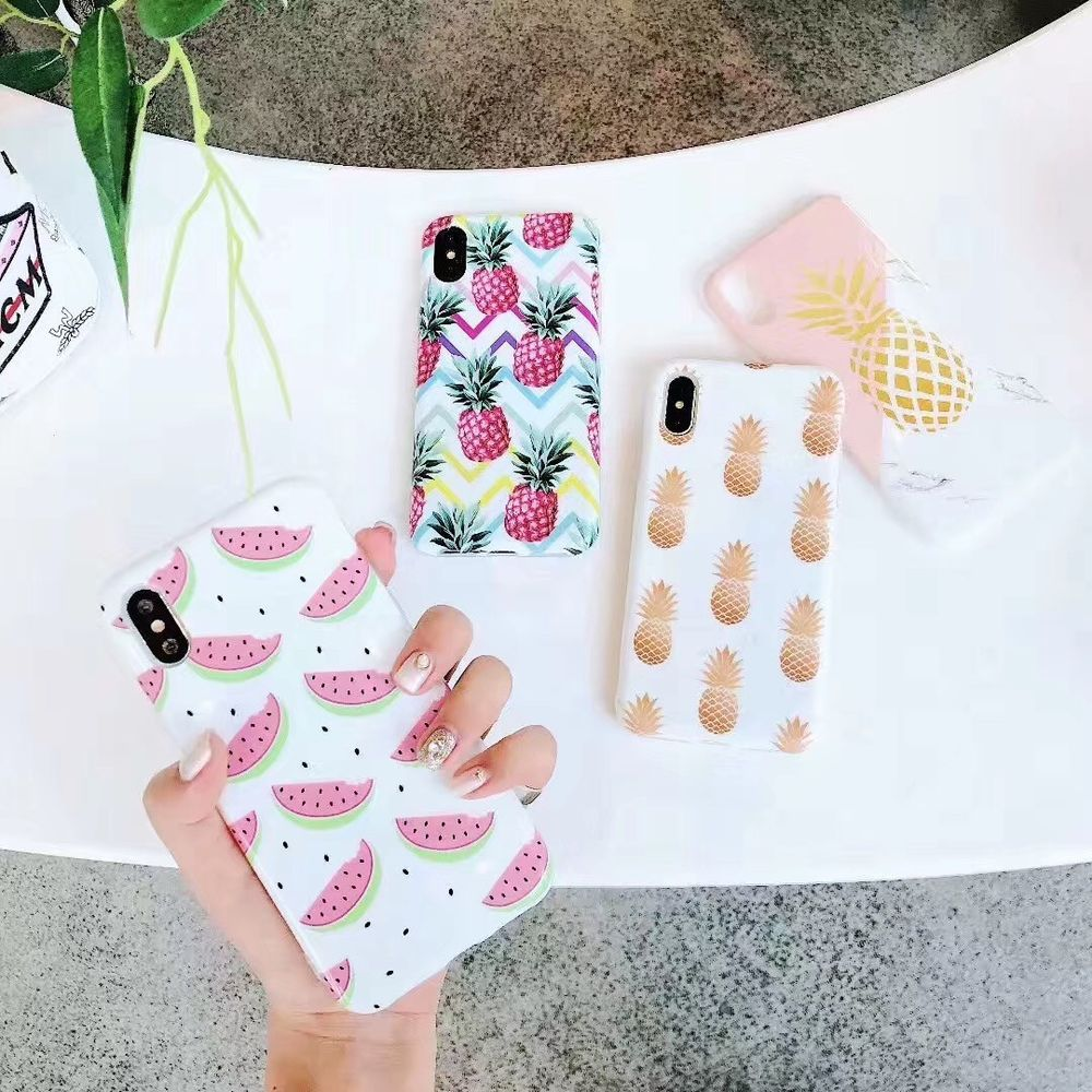 Details About Fashion Pineapple Watermelon Unbreak Phone Case