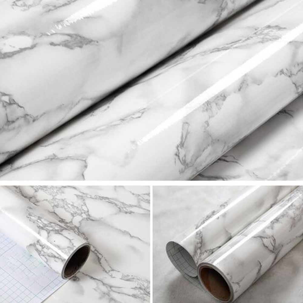 16ft Grey Marble Contact Paper Wallpaper Self Adhesive