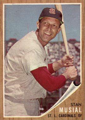 1962 Topps Stan Musial 50 Baseball Card Value Price Guide Baseball Cards Baseball Card Values Stl Cardinals Baseball