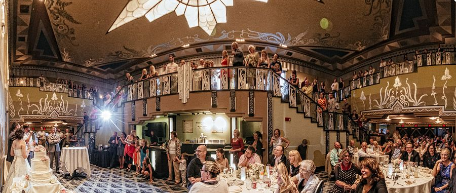 Matt Shumate Phototgraphy At The Fox Theater Wedding Reception Toasts In Main Room