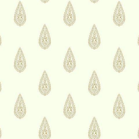 Bh8326 Luxury Teardrop Paisley Wallpaper Wallpaper Off White Embossed Wallpaper