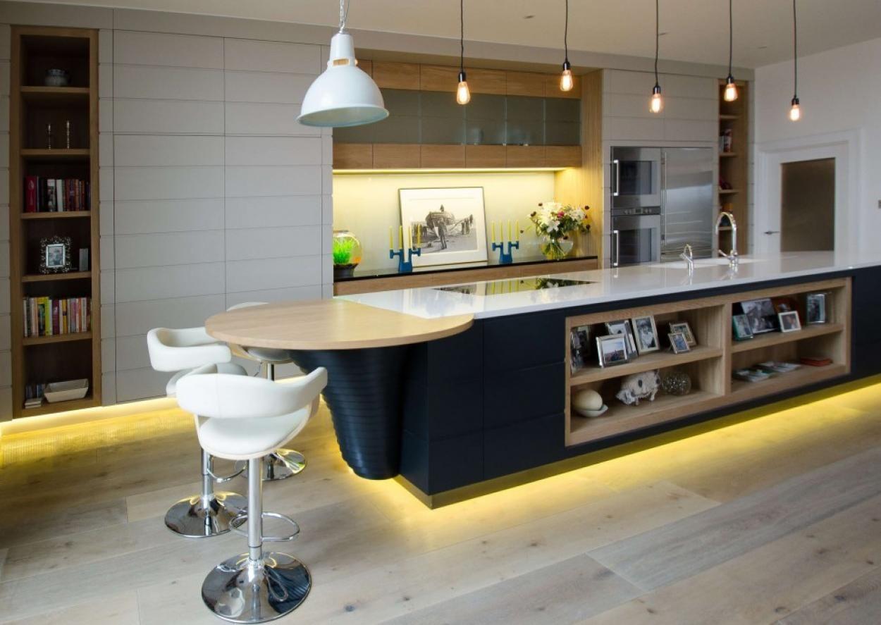 Perfect Mesmerizing Kitchen Lighting With Yellow Neon Light Under