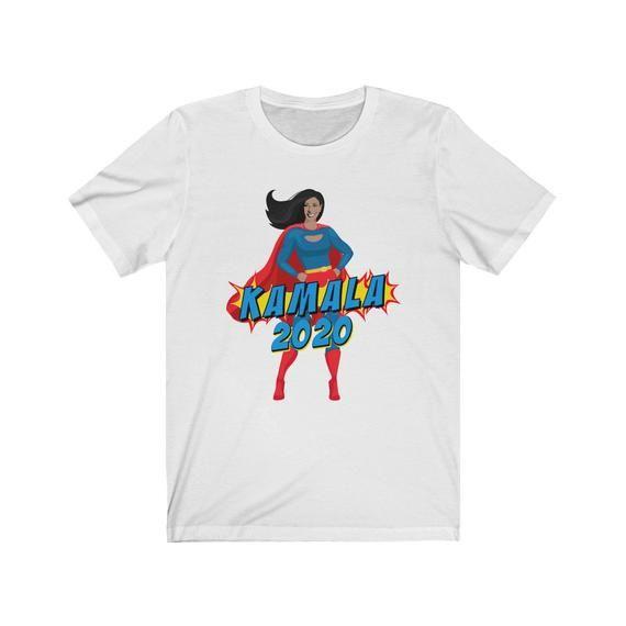 finest selection cc670 d087b Kamala Harris 2020 Superhero Unisex Bella Canvas 3001 Jersey Short Sleeve  Tee