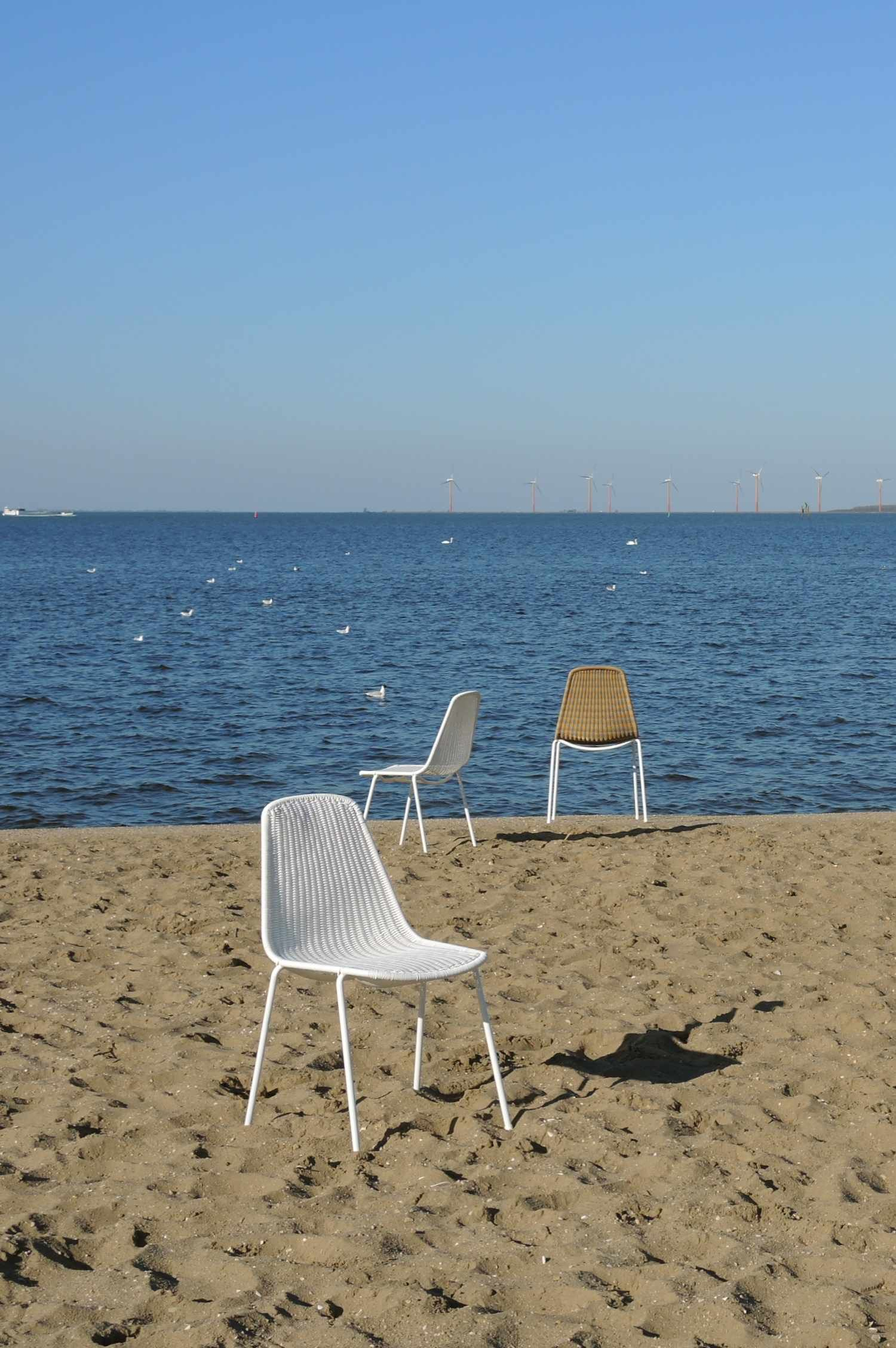 beach chair photo frame high back accent chairs basket on the white or honey