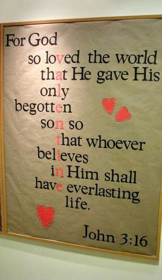 john 316 valentines day bulletin board