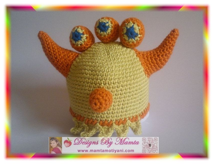 Crochet Monster Ogre Hat Pattern Alien Shrek Hat Pattern Baby Hat