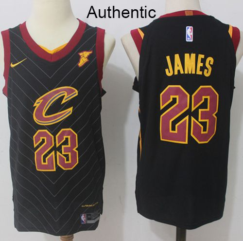 6a7eacf52 Nike Cavaliers  23 LeBron James Black Statement Edition NBA Authentic Jersey
