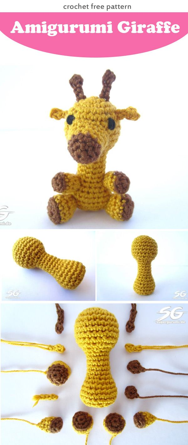 Amigurumi Giraffe free crochet pattern | Giraffe crochet, Amigurumi ...