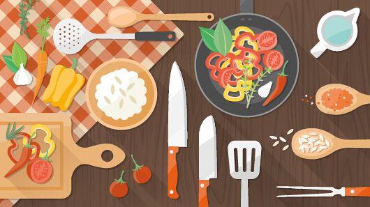 Creative Cooking Design Background Vectors 03 Desain