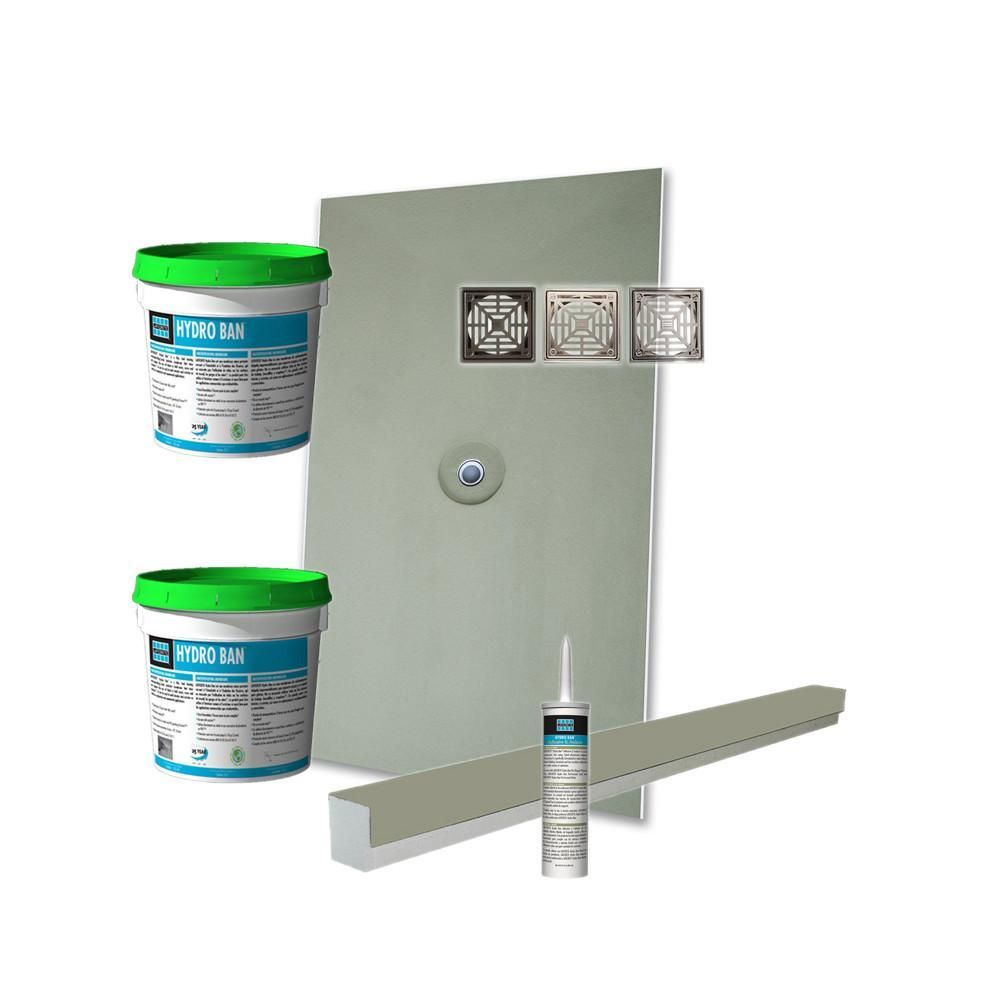 Laticrete Hydro Ban Pre Sloped Shower Kit 36in X 48in Center Abs