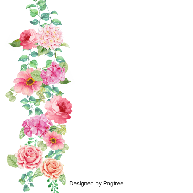 Flower Border Vector Png And Psd Flower Border Clipart Flower Border Flower Clipart