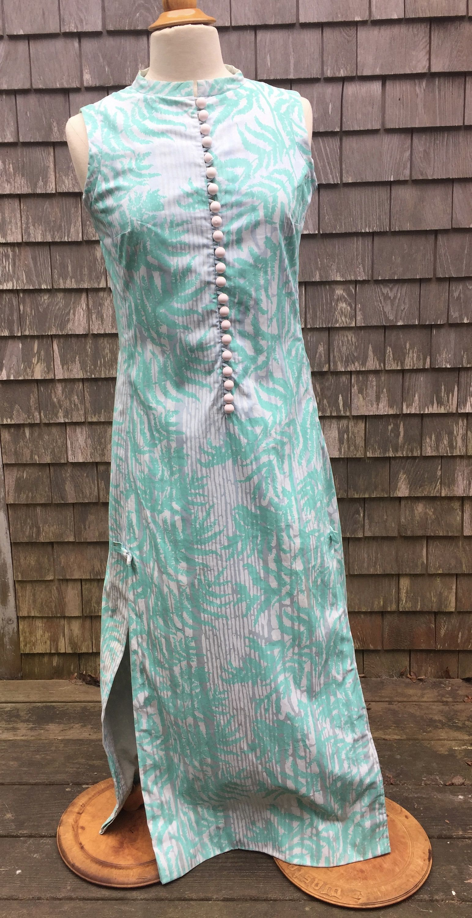 5785c840749 Vintage 1960s LILLY PULITZER Long cotton Summer Dress