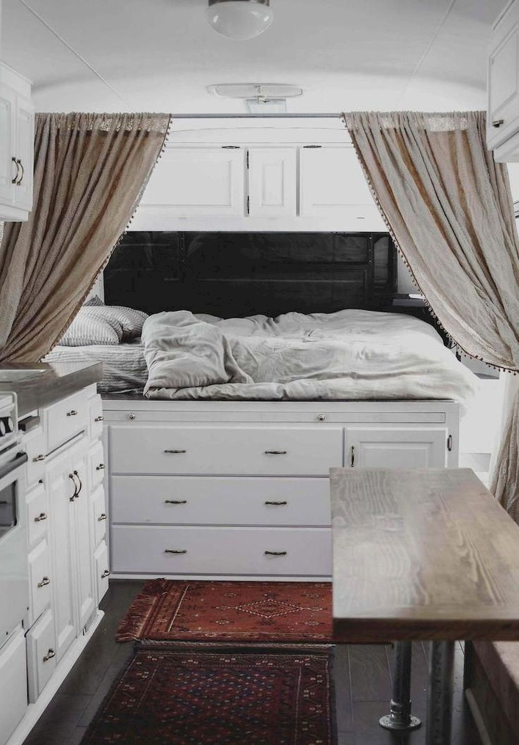 Camper Trailer Inside Design Concepts For You With Images Rv Decorating Ideas Rv Interior Theme Room Decor Travel Themed Bedroom