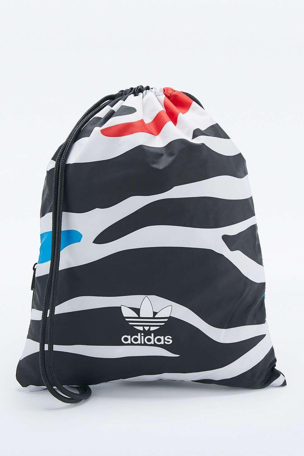 fc974556e4a3 adidas Originals Zebra Print Drawstring Gymsack