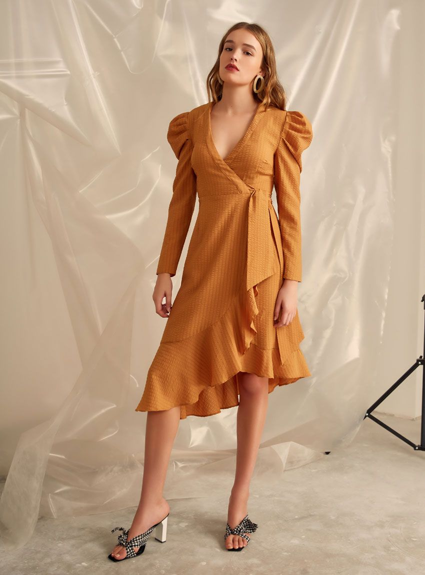 c4853a52a9ac C MEO Collective Advance LS Dress – Mustard
