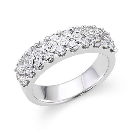 Wide Pave Wedding Ring Andrews Jewelers Buffalo NY