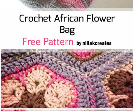 Crochet African Flower Bag Free Pattern Crochet African