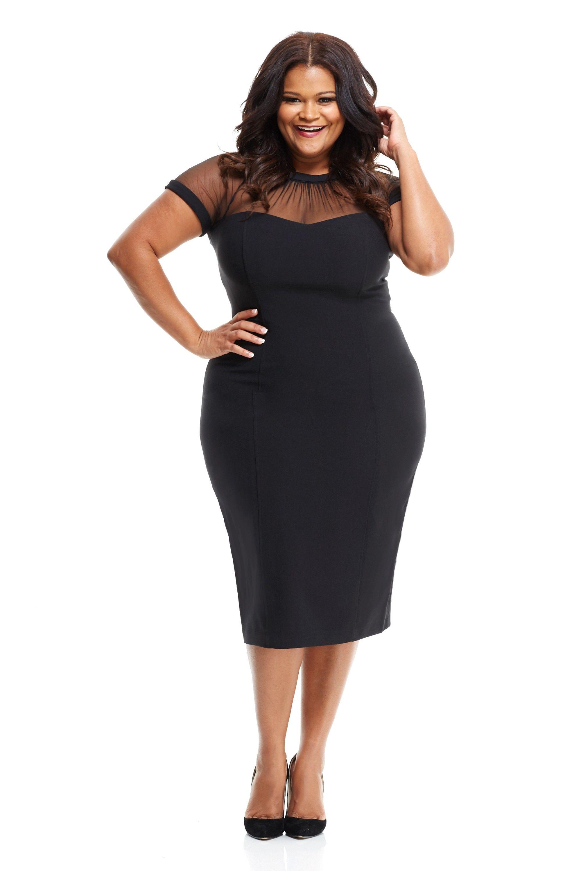 Maggy London - The Illusion Dress - Plus Black main. | Fashion ...