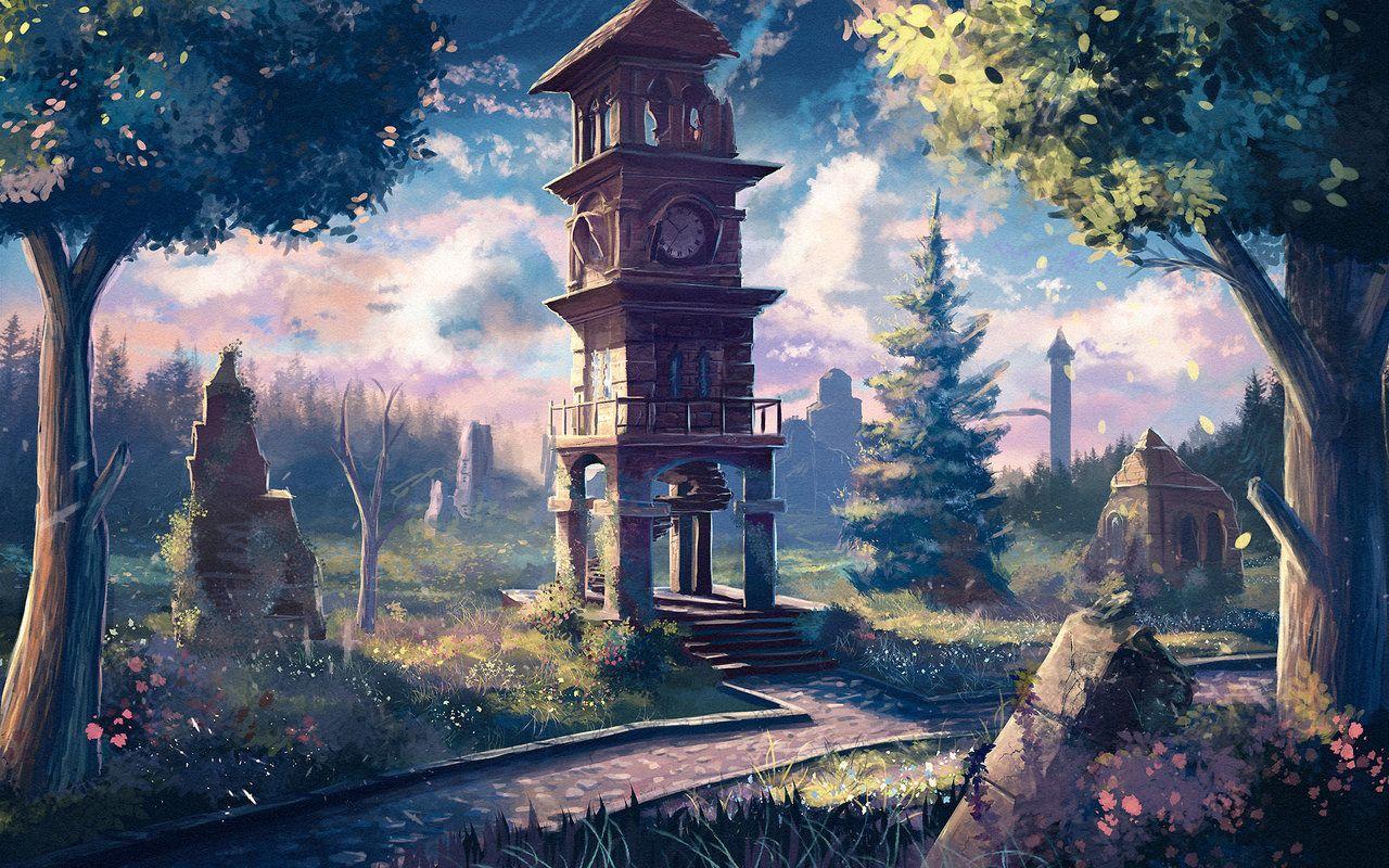 Landscape 21 By Sylar113 On Deviantart Landscape Illustration Anime Scenery Landscape 21 anime landscape wallpaper