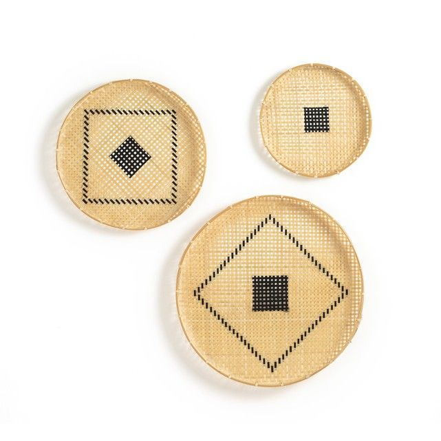 Jutlo set of 3 wall baskets. These Jutlo decorative baskets feature ...