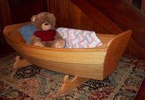 """Wee Pumpkin"" cradle boat.  Plans by Jordan Wood Boats.com"