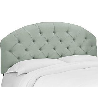 Skyline Furniture Linen Tufted Arched Twin Headboard Full