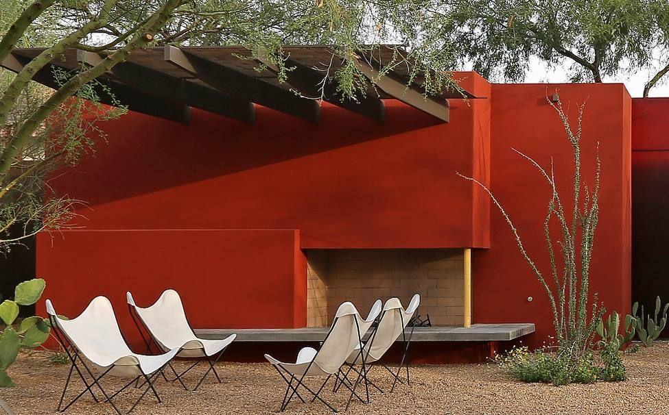 Mur Couleur Rouge Jardin Mur Exterieur Deco Exterieure Idees