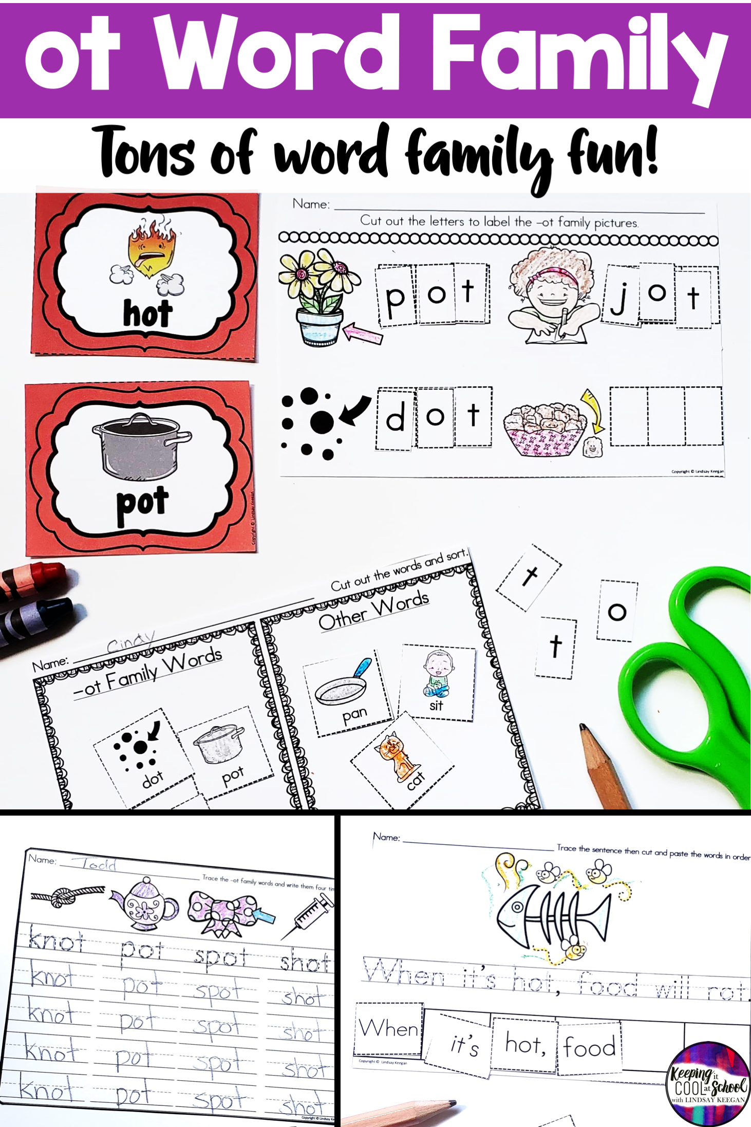 Ot Word Family Worksheets