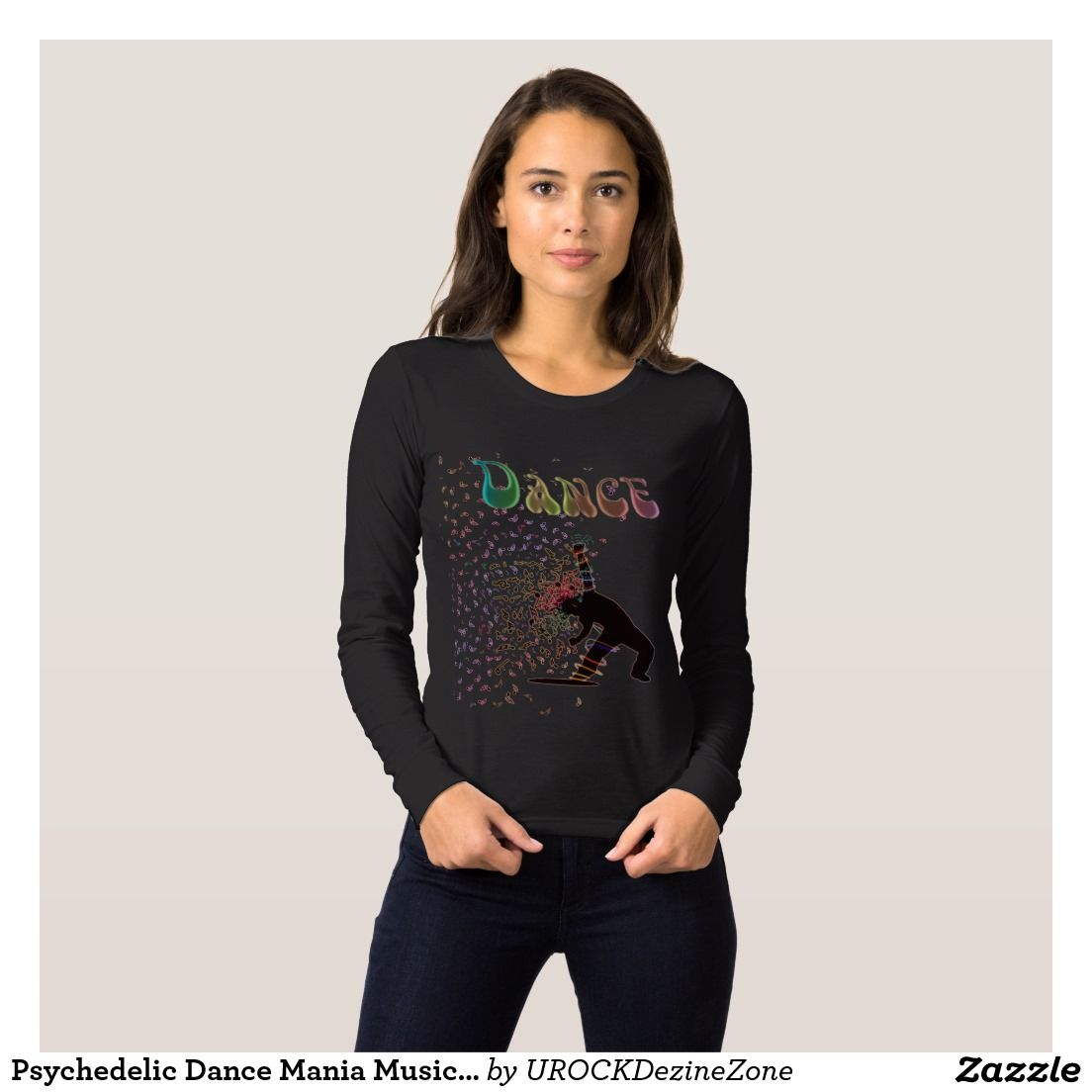 Design t shirt zazzle - Psychedelic Dance Mania Music Notes T Shirt Zazzle