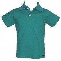 260538fa77c94 Camisa Polo Manga Curta Lisa Verde - Brandili