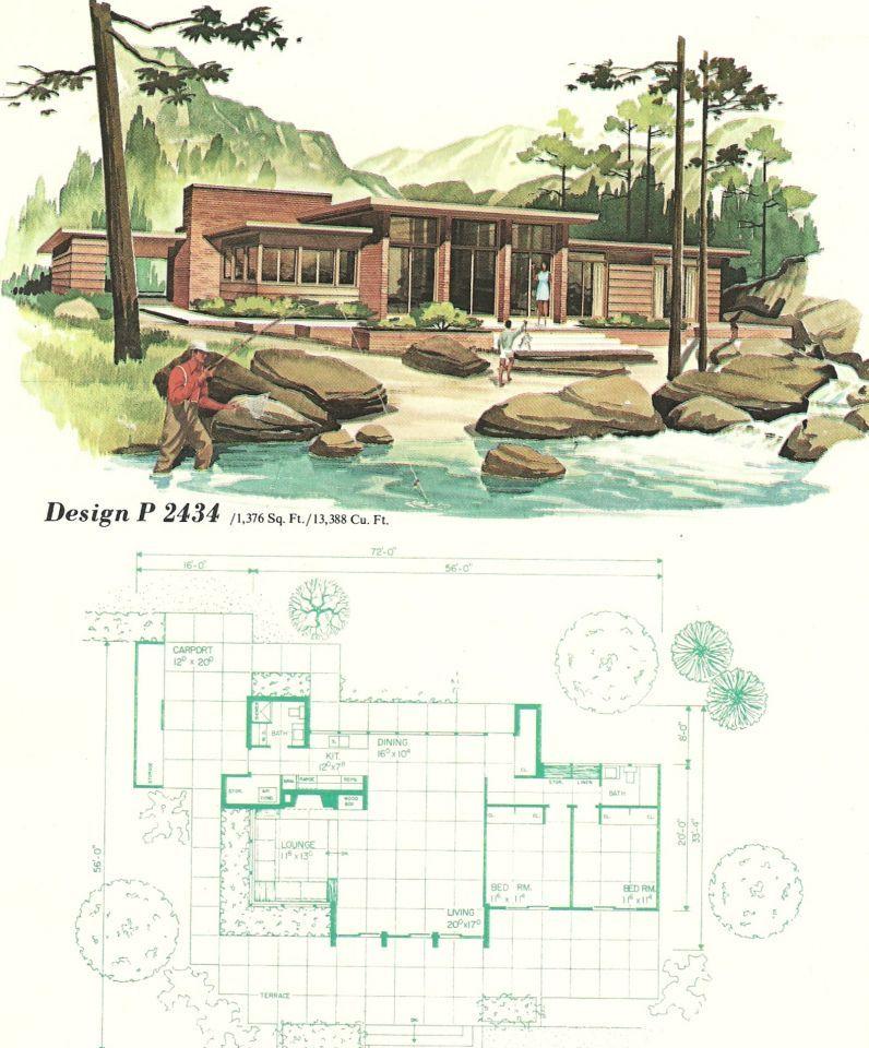 What S Hot On Pinterest Mid Century Modern Houses Mid Century Modern House Plans Vintage House Plans Modern Floor Plans