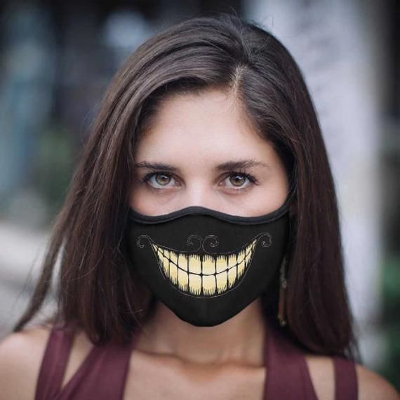 Cheshire Cat Smile masks with Protective PM2.5 Filter