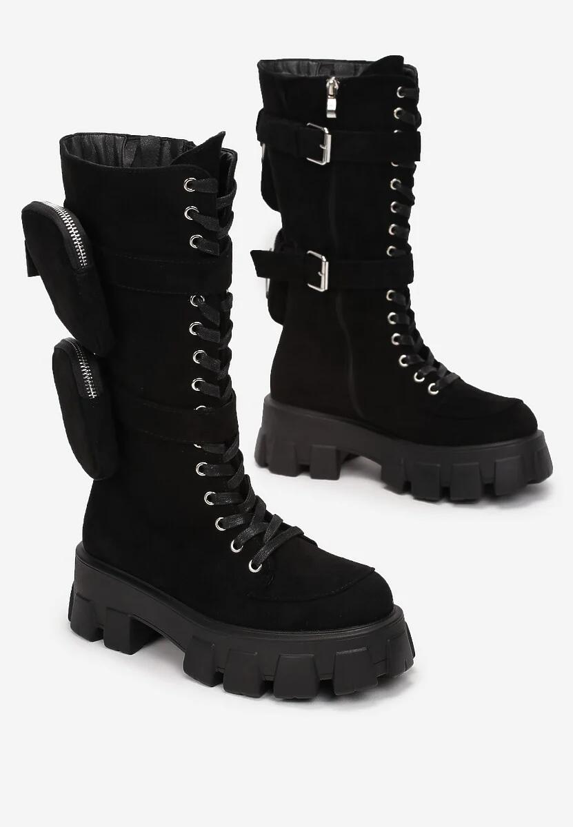 Czarne Botki Shyvia Army Boot Boots Combat Boots