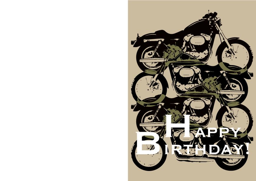 Harley Davidson Birthday Card Illustrator Pinterest Harley