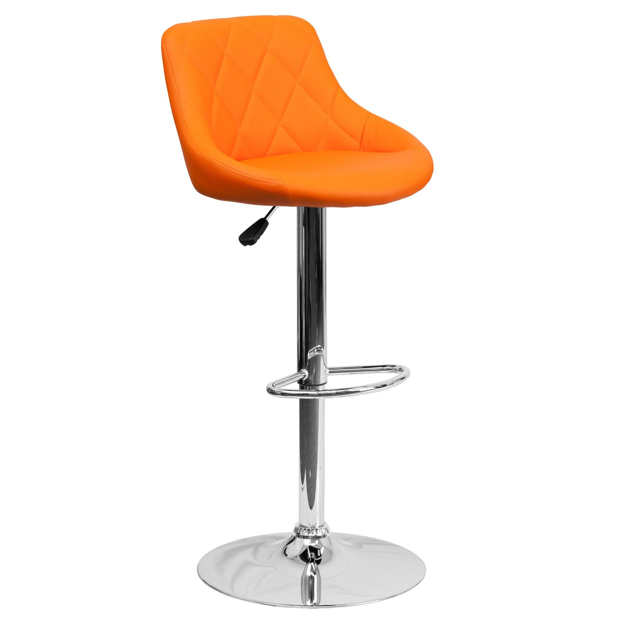 Mid Back Tufted Diamond Bucket Seat Home Office Kitchen Bar Stools Chairs  6 Colors