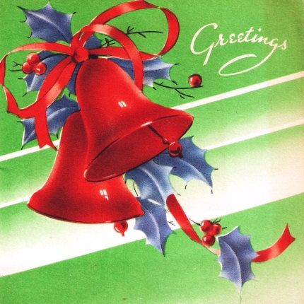 vintage christmas bells cards images - Google Search