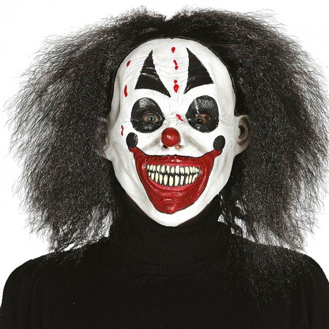 Máscara de Payaso Asesino con pelo  mascaras  halloween  killerclown b22feb5290b1
