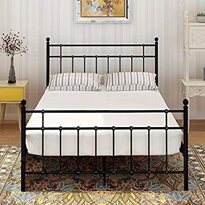 Best Amazon Com Buff Home Metal Bed Platform Frame Steel 400 x 300