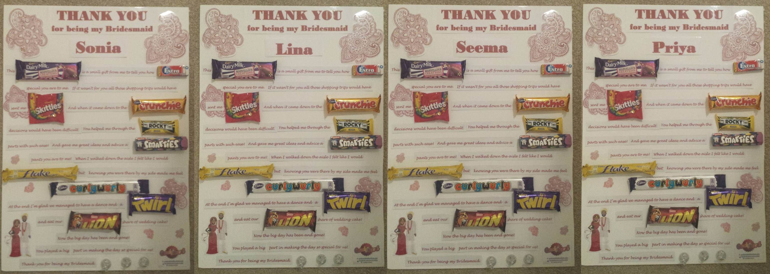 A New Innovative Way To Say Thank You To Bridesmaids Wedding
