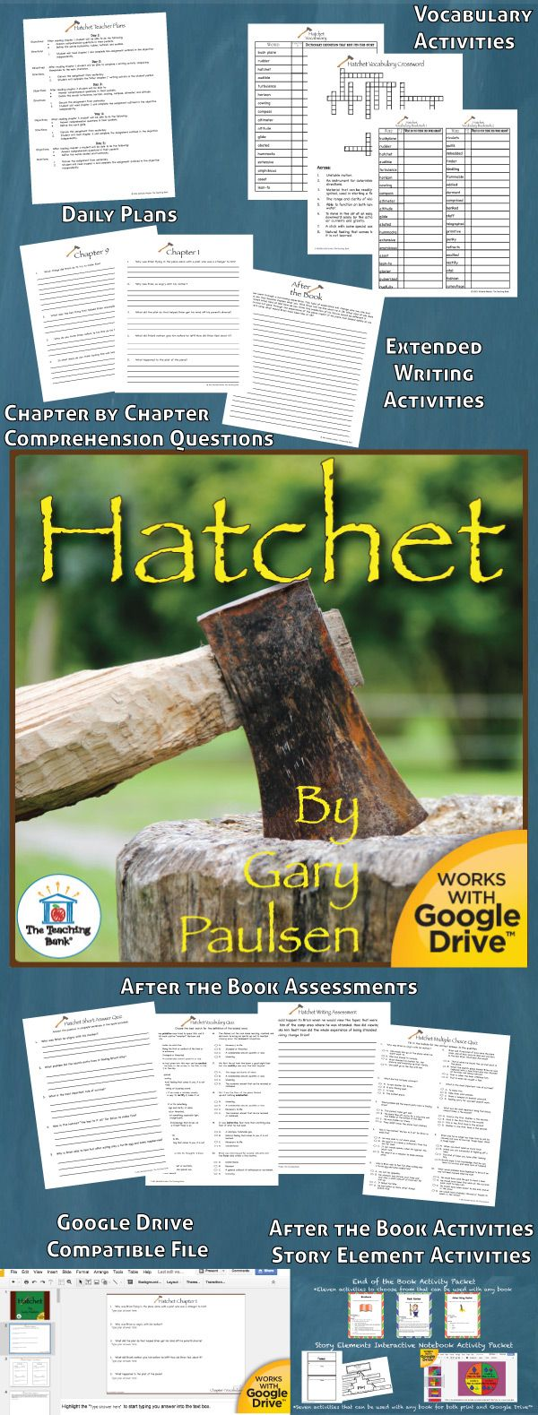 Hatchet Novel Study Is A Common Core Standard Aligned Book Unit To Be Used With Hatchet By Gary Paulsen T Hatchet Novel Study Hatchet Book Study Hatchet Novel
