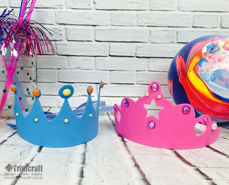 Kids Craft Foam Crown Tutorial With Free Printable