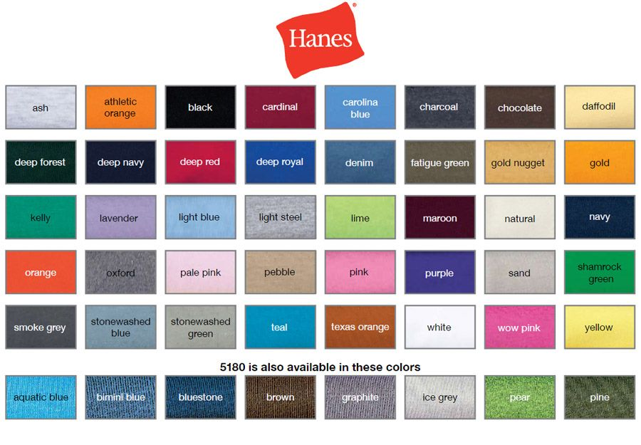Hanes Offers Great Colors For T Shirts And Polos Your Logo On