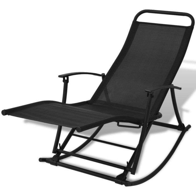 garden rocking sun lounger reclining folding deck chair beach