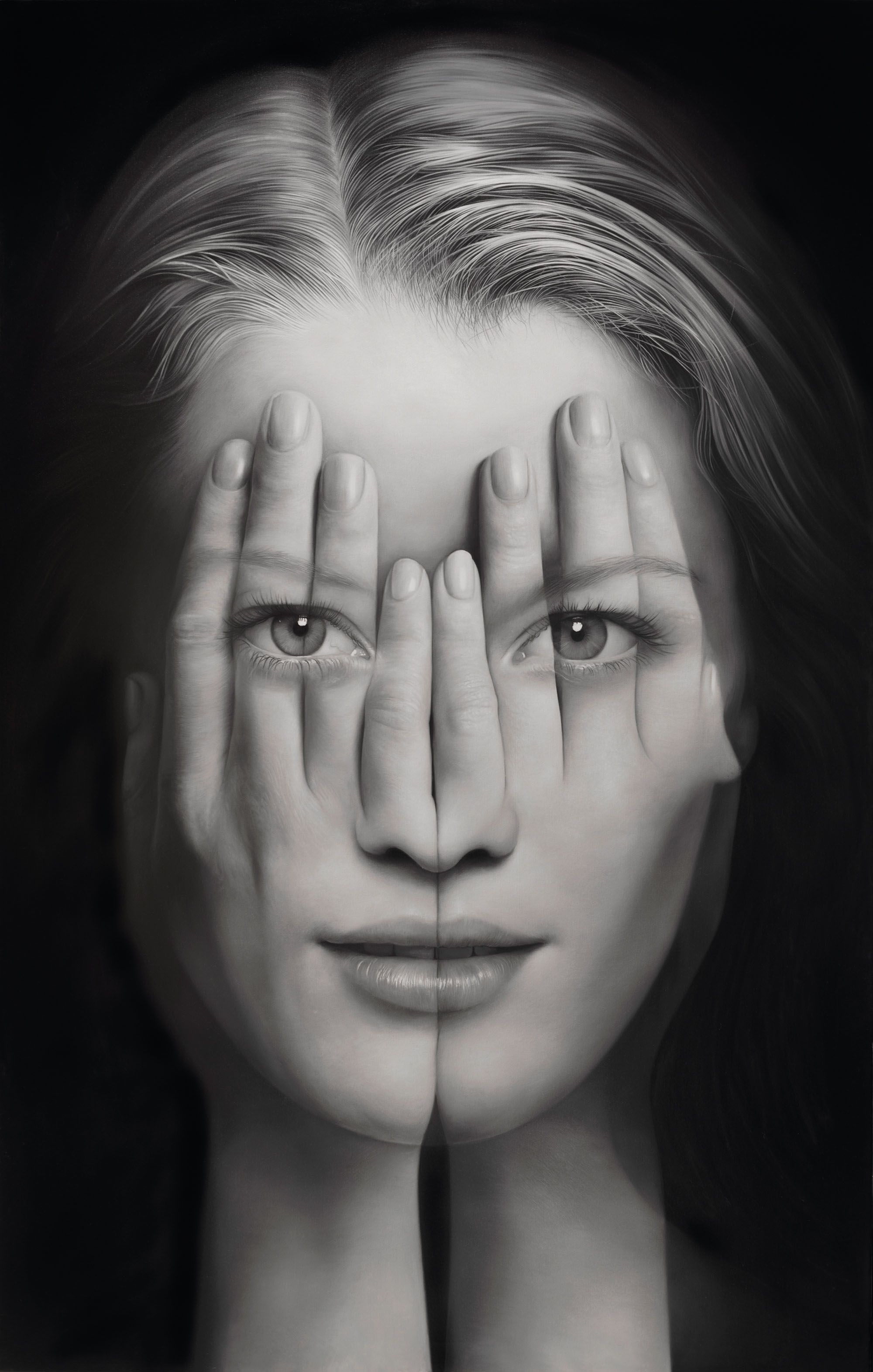 Mirror V ,oil on canvas by Tigran Tsitoghdzyan