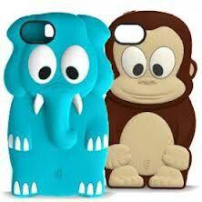 Cute phone cases...I want the monkey