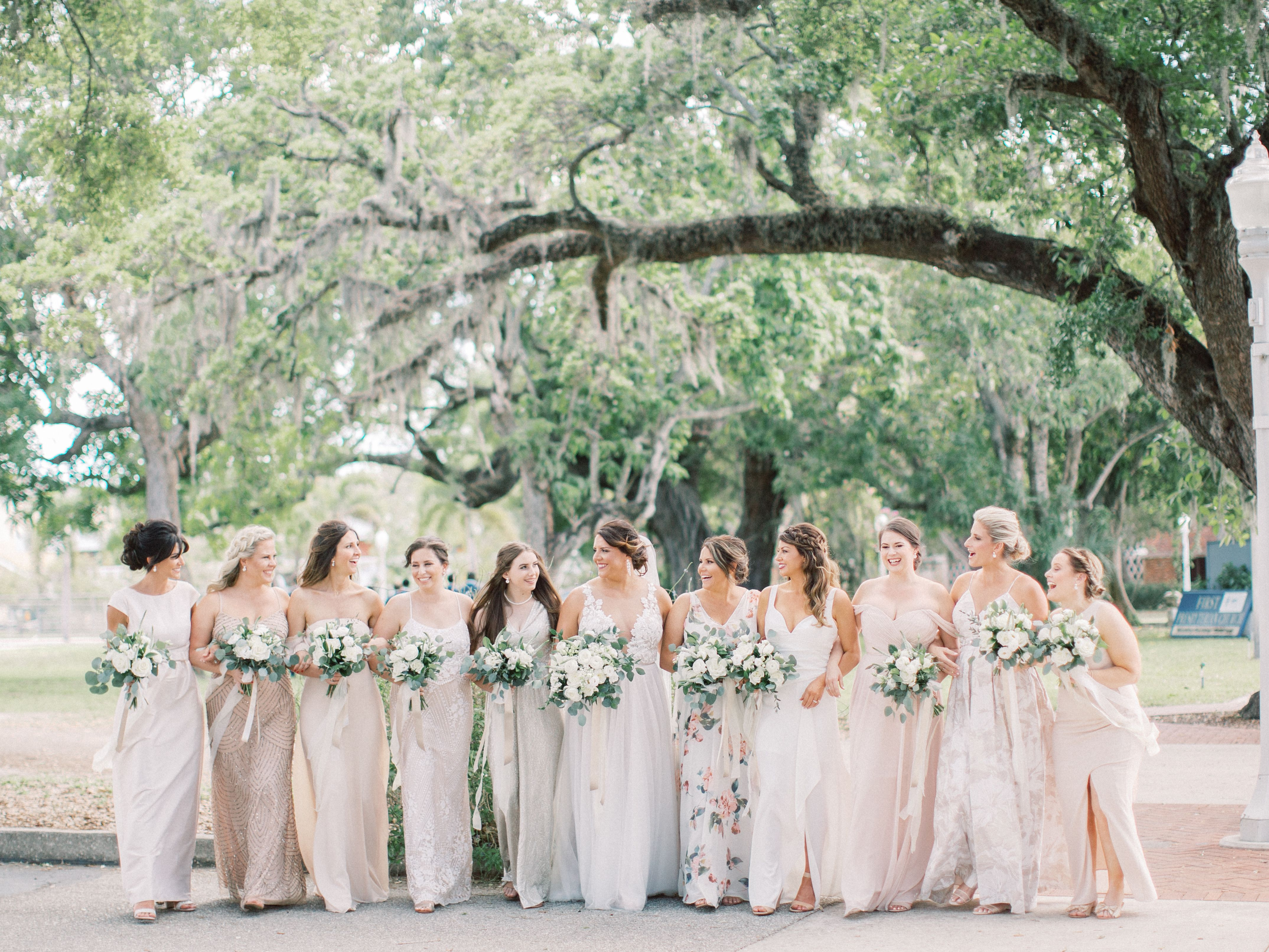 White Orchid At Oasis Fort Myers Wedding Wedding White Orchids Bridesmaid Style