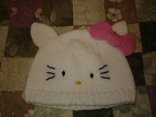 Hello Kitty knit hat pattern to use for Carly for ...