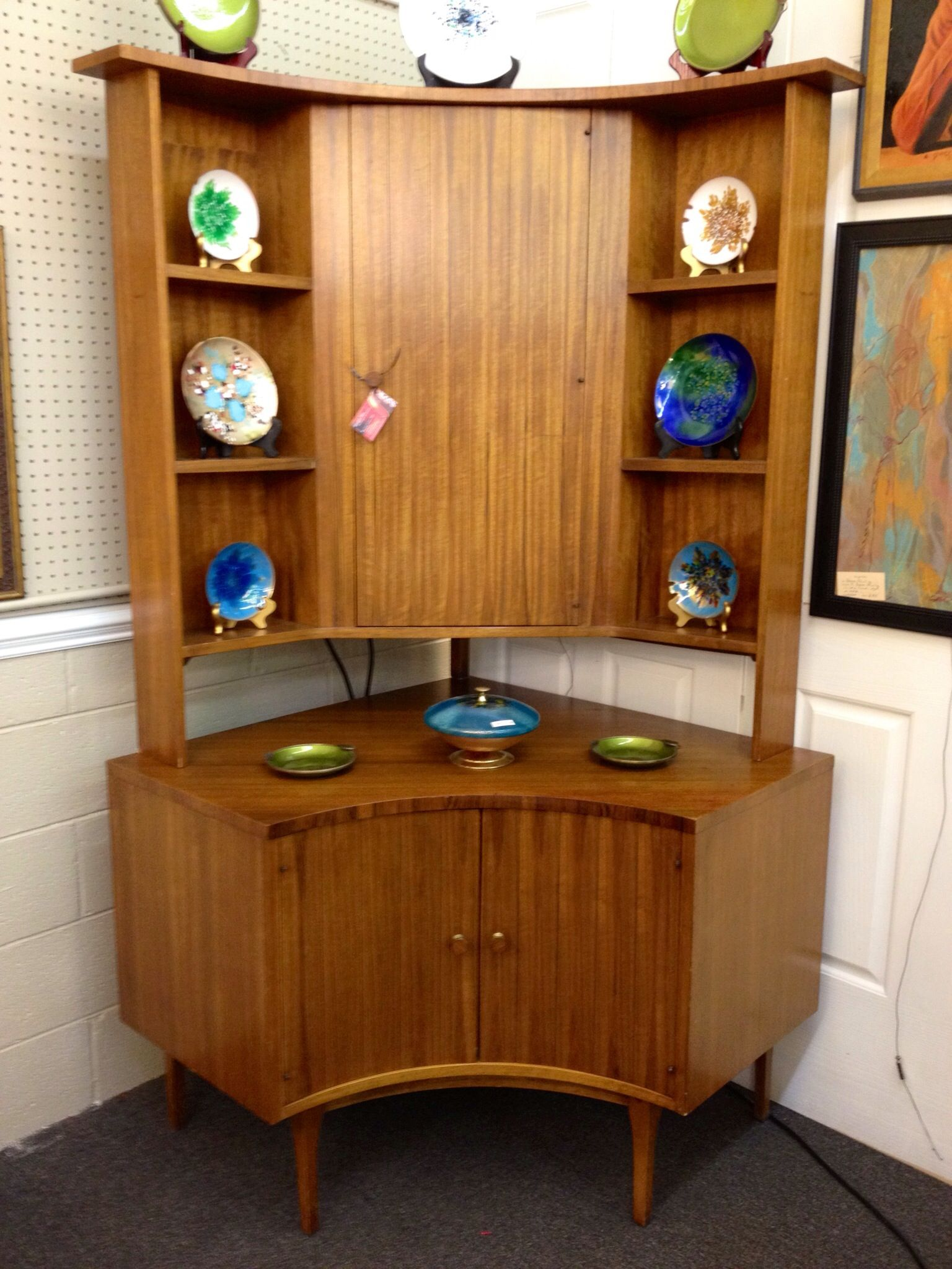 Early 1960s Lane Of Altavista Corner Cabinet Bar In Richmond Va