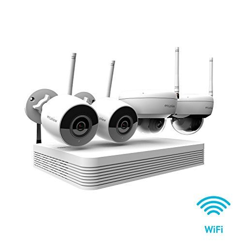LaView Wi-Fi Wireless Security Camera System 8 Channel 1080P HD Audio & Video H.265 NVR 2TB, 2xbullet & 2X Dome Indoor/Outdoor Wi-Fi Camera,150Ft WiFi Range,Mobile Alerts #audiovideo